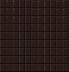 chocolate seamless dark handmade bio food vector image vector image