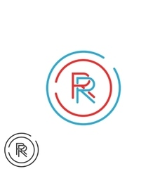Combination rr logo hipster monogram letter r vector