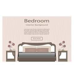 elegance bedroom interior banner for you design vector image vector image