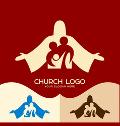 family in christ jesus vector image vector image
