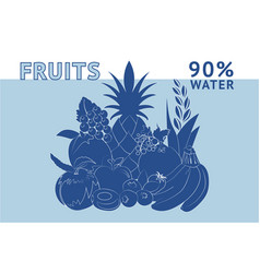 fruits water vector image vector image