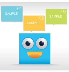 Funny character of Blue box vector image vector image