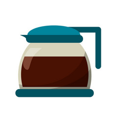 glass pot with coffee image vector image vector image