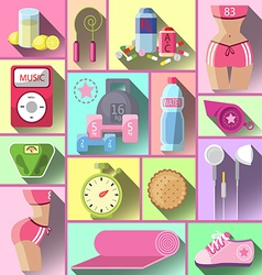 Healthy diet flat style vector image vector image