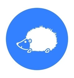 Hedgehog icon black singe animal icon from the vector