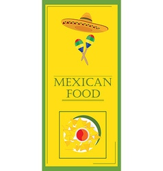 Mexican food restaurant vector
