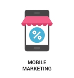 mobile marketing icon concept vector image vector image