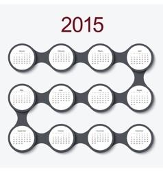 Modern circle 2015 calendar vector