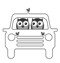 OWL CAR vector image vector image