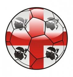 sardinia flag on soccer ball vector image