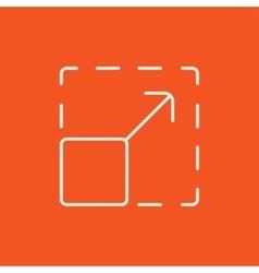 Scalability line icon vector image