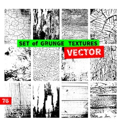 Set of grunge textures vector image