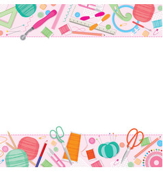 sewing kit frame vector image