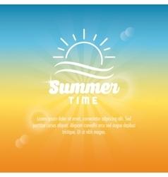 Summer design sun icon graphic vector image vector image