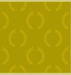 Yellow wheat seamless pattern vector