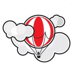 Balloon in clouds vector
