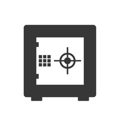Strongbox security system icon graphic vector