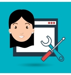 Woman page web tools vector