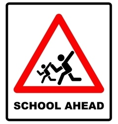 Warning school sign vector