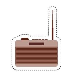 retro radio device isolated icon vector image