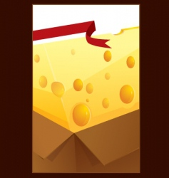 cheese box vector image