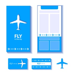 Airplane corporate identity vector