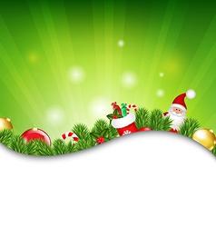 Happy Christmas Border With Sunburst vector image