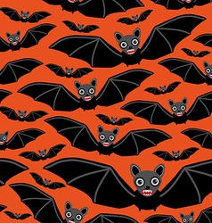 Vampire bats on orange background vector