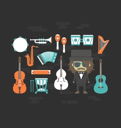 428classical musician and gadgetVS vector image vector image