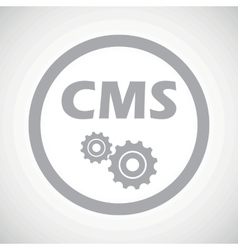 Grey cms settings sign icon vector