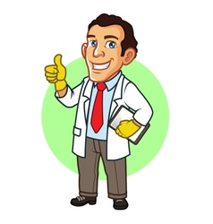Scientist cartoon mascot vector