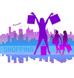 Shopping city vector