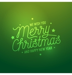 Merry christmas light green background vector