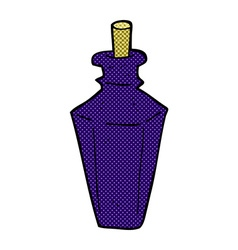 Comic cartoon perfume fragrance bottle vector