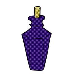 comic cartoon perfume fragrance bottle vector image
