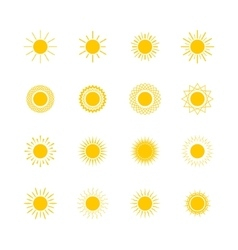 Set of sun shapes vector