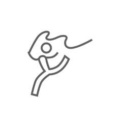 Gymnast with tape line icon vector