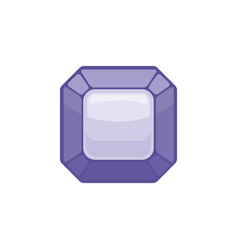 Amethyst gemstone isolated jewelry purple stone vector