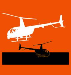 chopper landing vector image