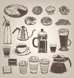 Coffee shop vintage design element vector image