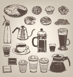 Coffee shop vintage design element vector image vector image