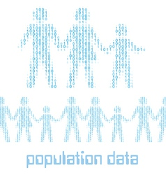 Digital people family group Data vector image vector image