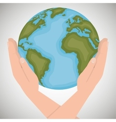 environmental icon save the world vector image