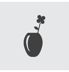 Flower vase icon vector image