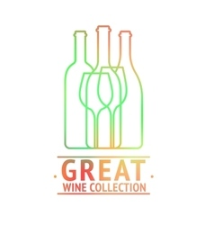 Great wine collection logo design vector