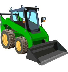 Green Skid Loader vector image