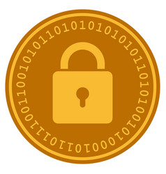 Lock digital coin vector