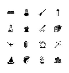 magic - flat icons vector image