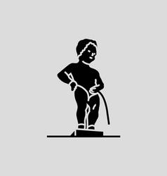 Manneken Pis Brussels vector image vector image