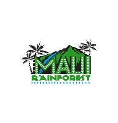 Maui rainforest retro vector